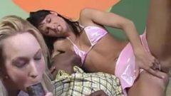 Interracial blowjob And Bum Licking