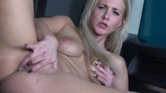Masturbation In Transit As Blonde With Great Butt Fingers Pussy